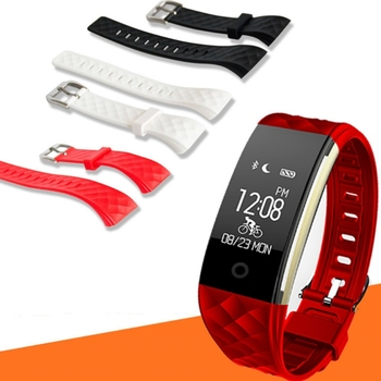 Silicone Replacement Band Fitness Wrist Strap For S2 Bluetooth Smart Bracelet
