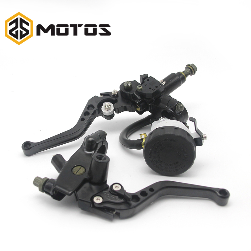 ZS MOTOS Universal CNC 22mm Motorcycle Brake Clutch Levers Master Cylinder Reservoir Set For Honda Suzuki Kawasaki Yamaha D10(China)