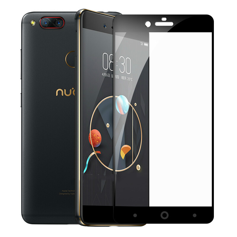 9H Tempered Glass For <font><b>ZTE</b></font> <font><b>Nubia</b></font> <font><b>Z11</b></font> Z17 <font><b>Mini</b></font> M2 Lite A2 Plus For <font><b>ZTE</b></font> Blade V8 Full Cover <font><b>Screen</b></font> Protector Toughened Film Glass image