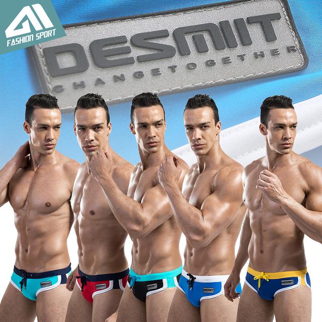 DESMIIT Men's Solid Swimming Briefs New Summer Surfing Men's Swimwear Low Sexy Men's Swim Brief Sportive Beachwear for Men DT22