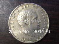 1897 Portugal 1000 REIS coin Exact Copy