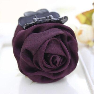 Розовые цветы черные пластиковые зубы заколки для волос изысканный элегантный головной убор для женщин девушек аксессуары для волос - Цвет: 9103