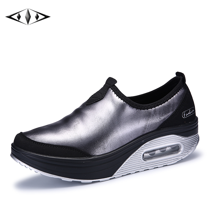 LEMAI New Reflected Light Women Running Shoes Autumn Outdoor Sport Athletic Sneakers Rubber Sole Height Increasing SZ7665