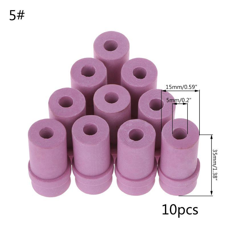 10pcs Sandblaster Nozzles Air Sandblasting Gun Tips Ceramic Nozzle 5mm 6mm 649E