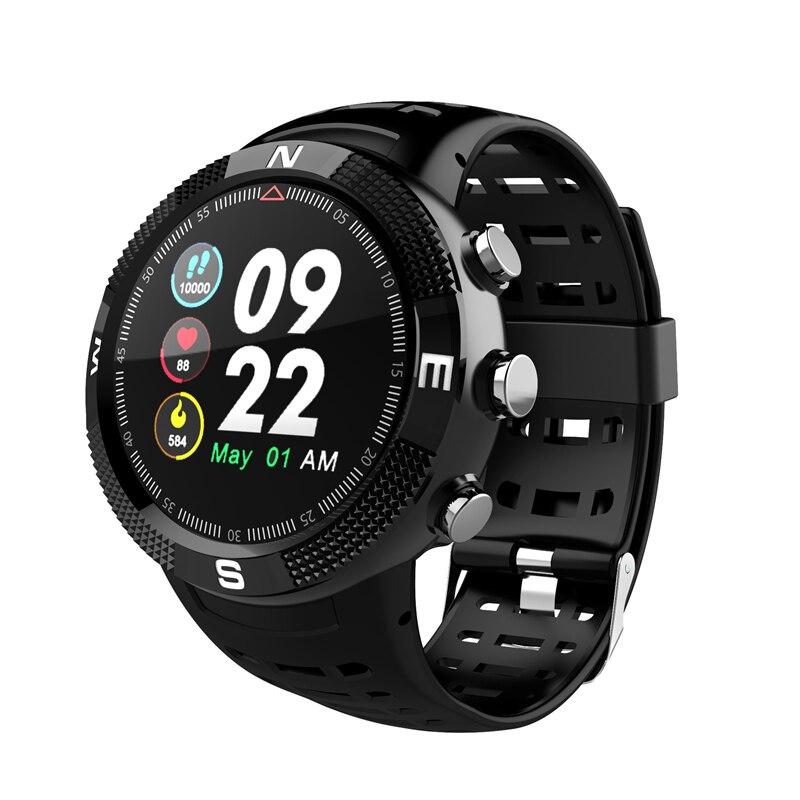 OGEDA F18 smart hommes montre de sport bracelet HD écran rond fréquence cardiaque oxymètre podomètre tracker IP68 étanche PK Mobile phon