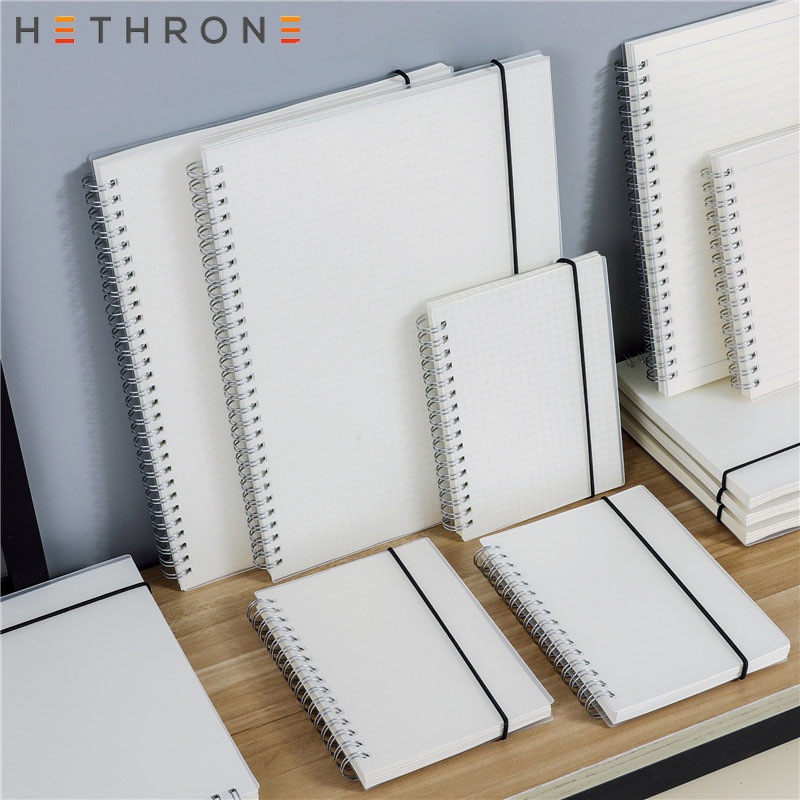 Hethrone <font><b>A5</b></font> A6 Loose Leaf <font><b>Notebook</b></font> <font><b>Spiral</b></font> Binder DOT Blank Grid Paper Weekly plan Paper Stationery For School Office Notepad image