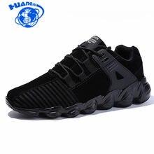 69529e0ccb 2018 Homens Sapatos Casuais Lace-up Outono Estilo Homem Moda Sapatos de  Camurça à prova d  água Preto Cinza Amarelo 39-46