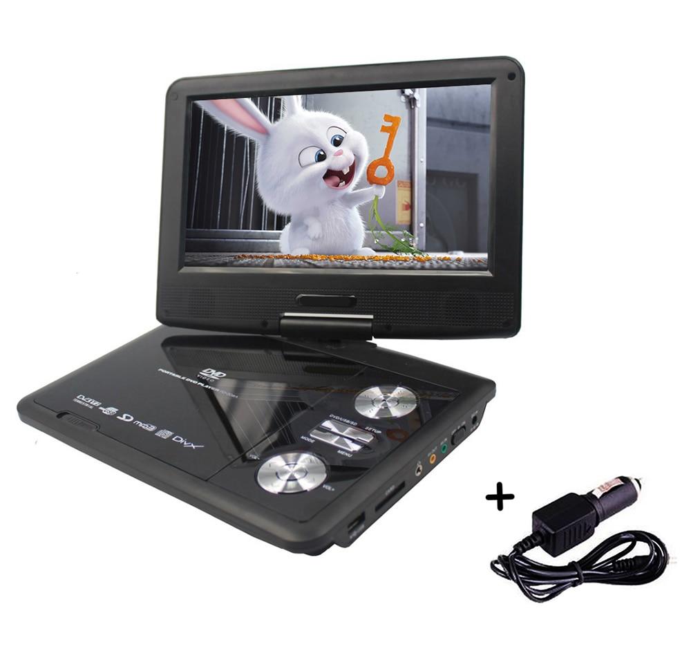 LONPOO Portable DVD Player 9 Inch Swivel TV Portatil DVD