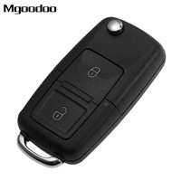 2 Buttons Flip Folding Remote Car Key Fob Case 433MHz ID48 Chip For VW Beetle Golf Jetta Passat Transporter T5 1J0 959 753 AG
