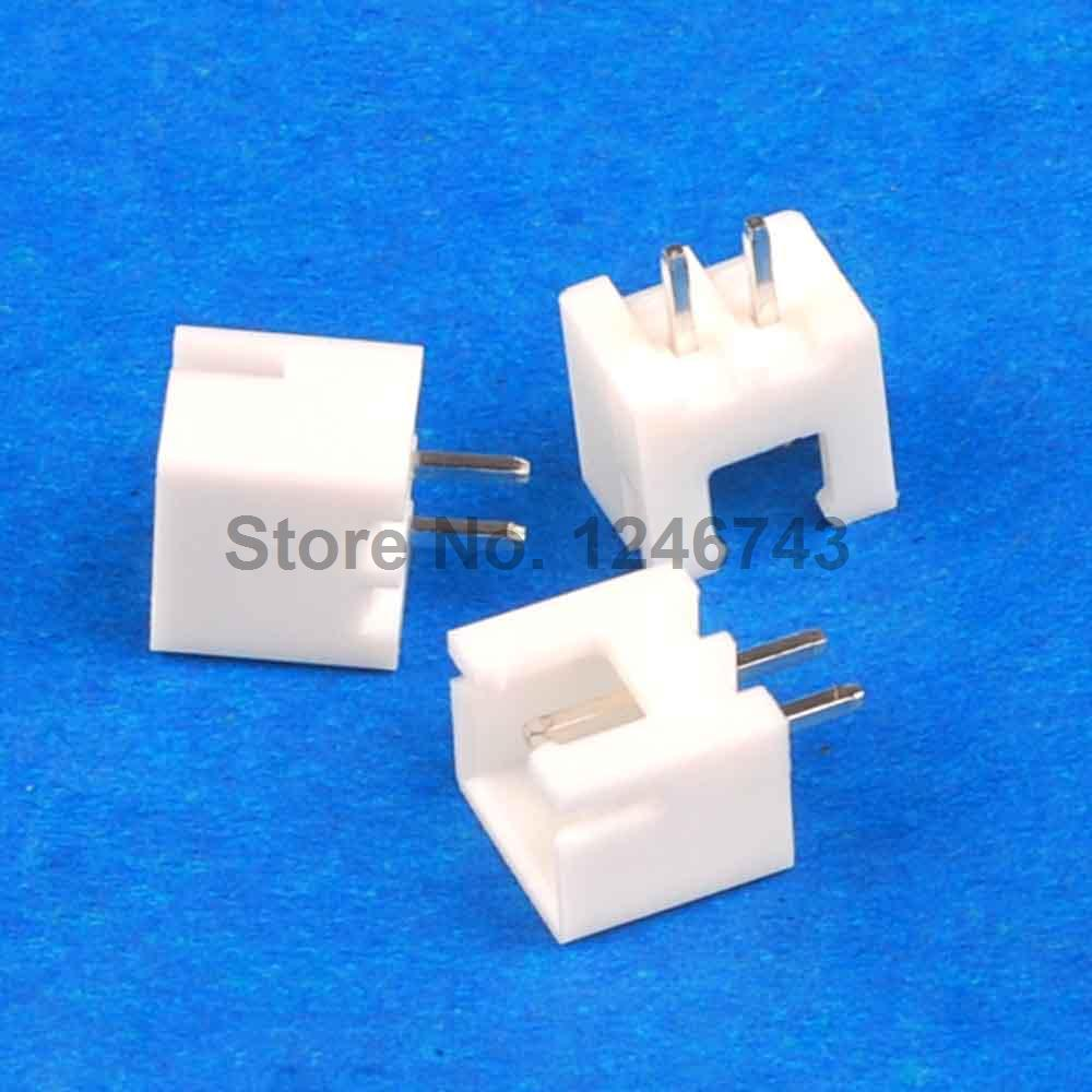 5OPCS XH2.54-2P 2.54mm 2A Pitch White Tower Connector Straight Needle Seat XH2.54 Cable Block