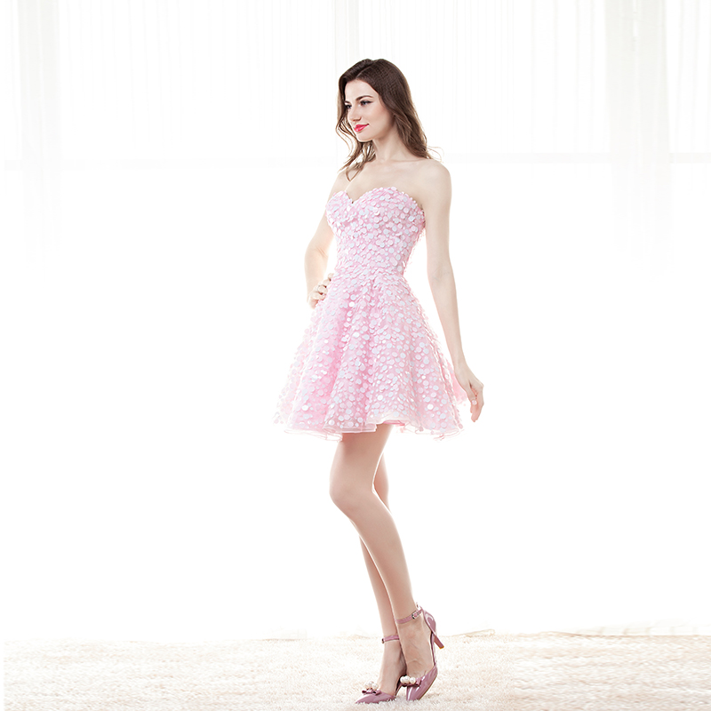 Erröten Rosa Prom Kleider Kurze 2017 Modest Vestido Formatura Sexy ...