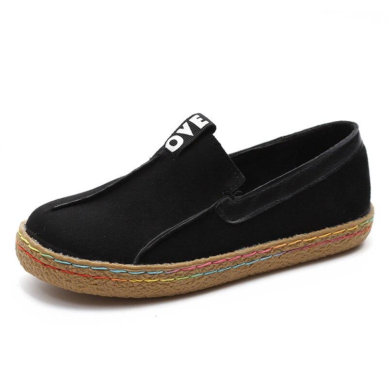 Новый Модная повседневная обувь на плоской подошве Для женщин 2018 модные Лоферы круглый носок Оксфорд Обувь мелкой Обувь