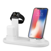 3 in 1 Cell Phone Charger station for Apple Watch Stand  Charging Phone Headset compatible for iphone/micro/Type C|Mobile Phone Chargers|Cellphones & Telecommunications -