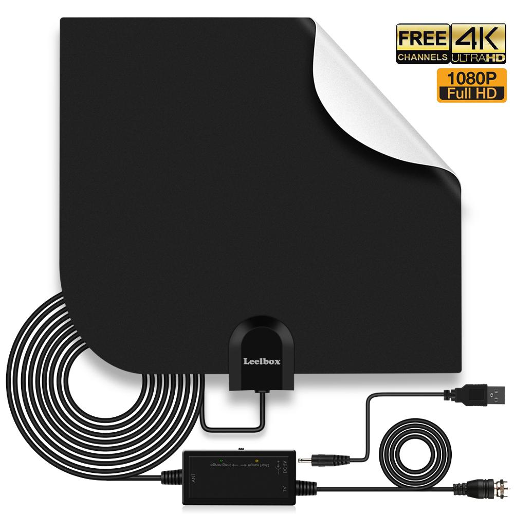 60~80 Miles 1080P Indoor Digital TV HDTV Antenna Radius Surf Fox Antennas Receiver Amplifier Mini DVB-T/T2 Aerial UHF VHF
