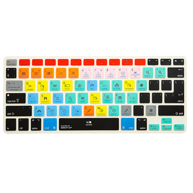 For Ableton Live Traktor Serato DJ FL Studio Shortcut Keyboard Cover For Macbook Pro 13 15 With