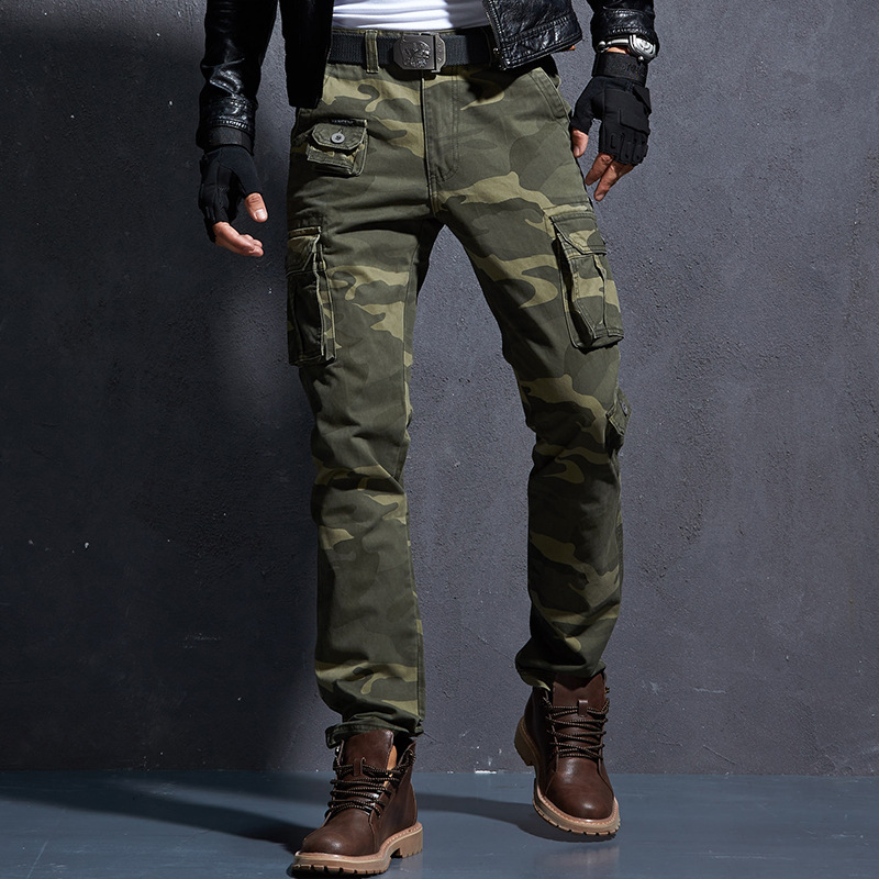 2019 Casual Pants Men Military Tactical Pantalon Camouflage Homme Slim Fit Cargo Pants Homber Modis Black Uomo Trousers Male