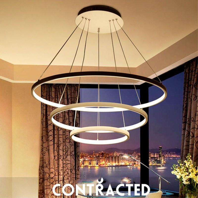 Modern Art Led Abs Chandelier Lights Lamp Living Room
