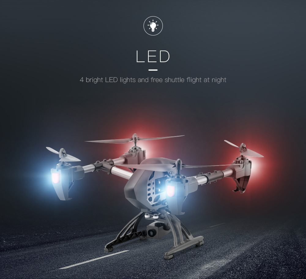 Aititude Hold 2.4G WiFi RC Quadcopter 6-Axis Gyro 2MP HD FPV Drone Helicopter FOR   new arrival