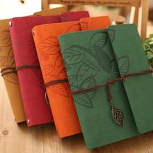 Hot Sale 8 Inch PU Leather Vintage Antique Spiral Kraft Paper Photo baby Albums for kids Scrapbooking Home Decor graduation gift
