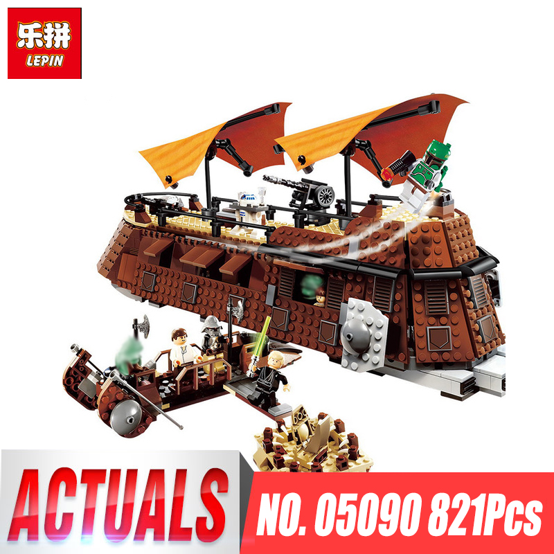 Lepin 05090 Star Series War 821Pcs The Ja`s Sail Barge Set Children Educational Building Blocks Bricks Toy Model LegoINGlys 6210
