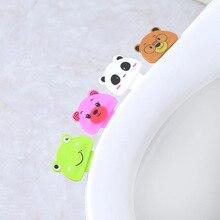 1 шт., новинка, милый мультяшный чехол для унитаза, подъемное устройство для ванной, крышка для унитаза, портативная ручка для ванной, аксессуары для унитаза