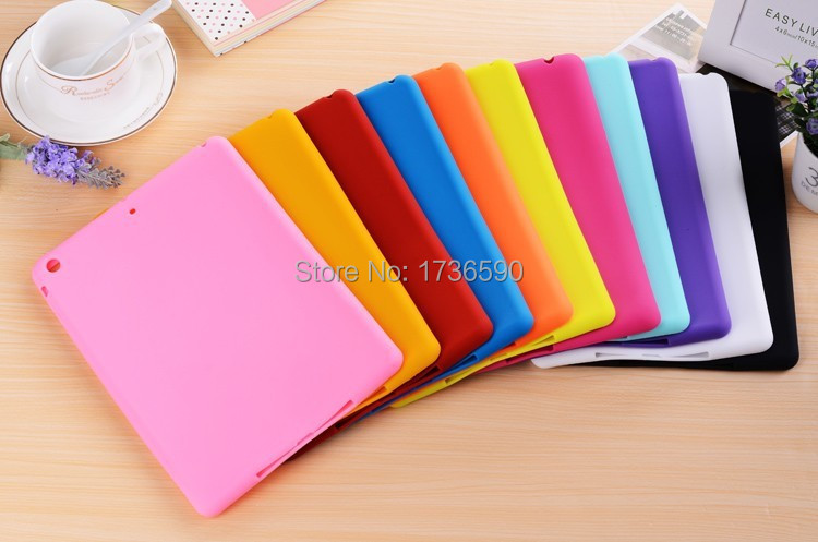 Hot Sale Cute Bean Smart Soft Jelly Sweet Silicone Rubber Protective Case For Ipad 2/3/4 cute rabbit silicone soft case