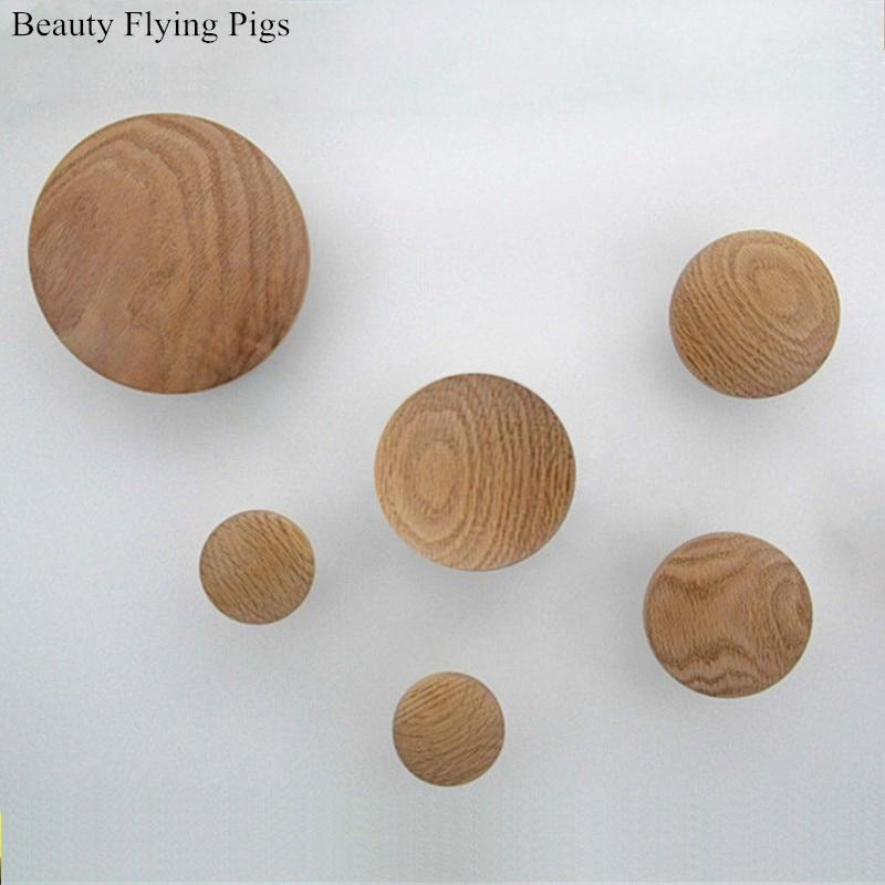 Colgador de pared para ropa Perchero de madera gancho colgador de hongo redondo gancho colgador para la pared Perchero de madera bonita decoración del hogar