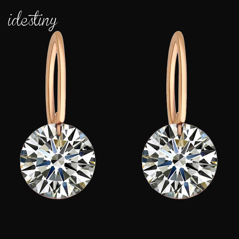 d0d527432 11.11 Top Quality Famous Designer Jewelery for Women Gold Color Plating  Round Stud Earrings With CZ