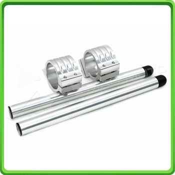 50MM Silver Motorcycle Fork Clip-ons and handlebar tubes For APRILIA RSV 1000 / Factory 2006 2007 2008 2009 Clip-on handle bars