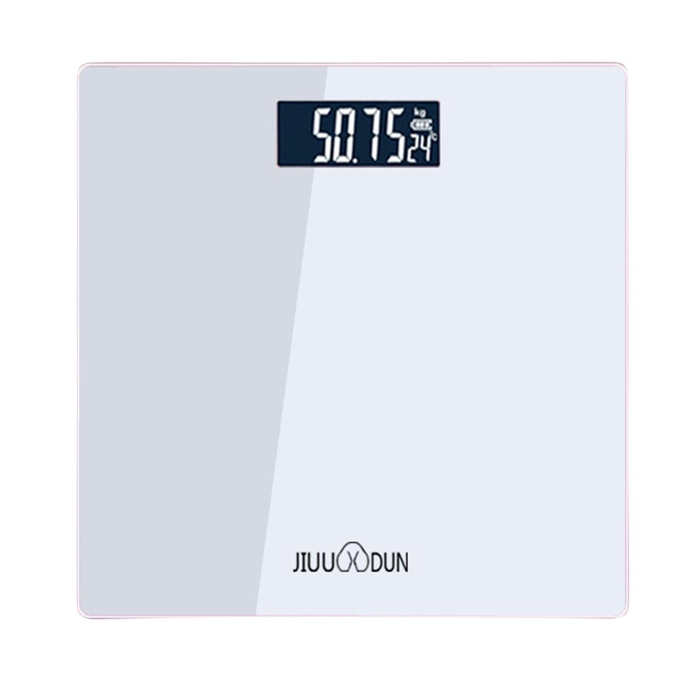 USB Body Scale Square Black Electronic Scale Human Charging Household Weight Scale Convenient Health Scale in Bathroom Scales from Home Garden