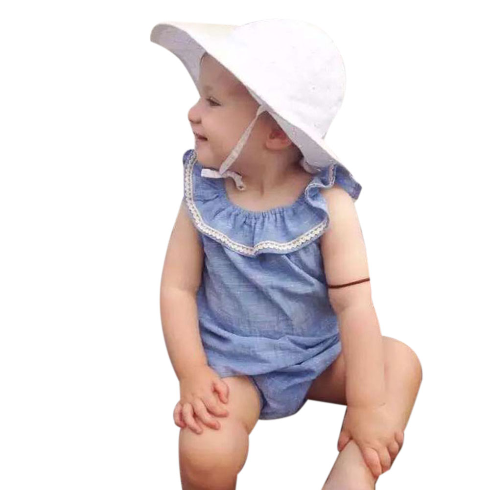 Baby Infant Toddler Girls Sleeveless Rompers Summer Jumpsuit Cotton Summer Outfit Clothes Romper for Baby Girls 0 to 36 Months 2017 cotton toddler kids girls clothes sleeveless floral romper baby girl rompers playsuit one pieces outfit kids tracksuit