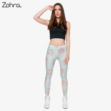 High Elastic Women Leggings Muffin Dots (one size)