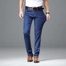 2019 Thick Autumn Winter Jeans Men Male Straight Fit Pants Classic Jeans Men Denim Elasticity Fashion Trousers Heavy weight