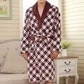 Top Quality Winter Bathrobe Men Vintage Royal Printed Flannel Robes Sleepwear Thickening Warm Bath Robe Asian/Tag Size L-3XL