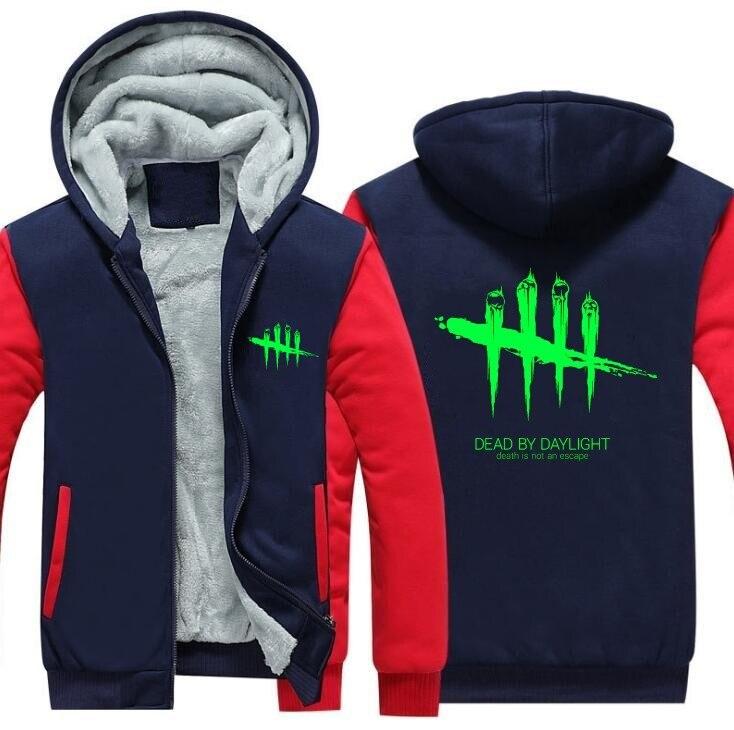 Hot Game Dead by Daylight Hoodies Hip Hop for Mn Winter Warm Sweatshirt Jacket Winter Streetwear Fleece Thicken Hoodie Coat