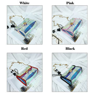 Chain Handbag Messenger-Bag Holographic Transparent Women PVC Laser Hot-Selling
