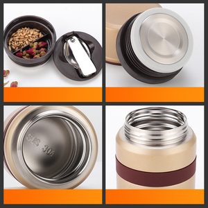 Image 5 - 2018 new stainless steel thermos food container inox folden spoon bag flask kids lunch box bento thermo outdoor insulate
