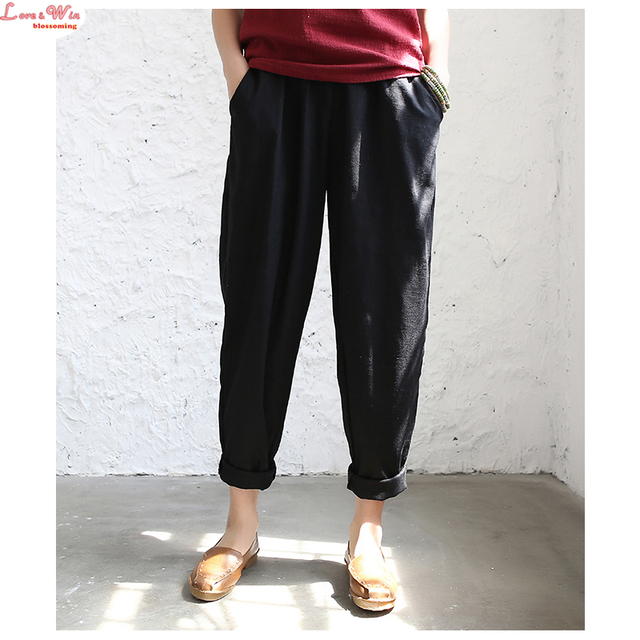 lady long linen harem pants new women harem pants slacks