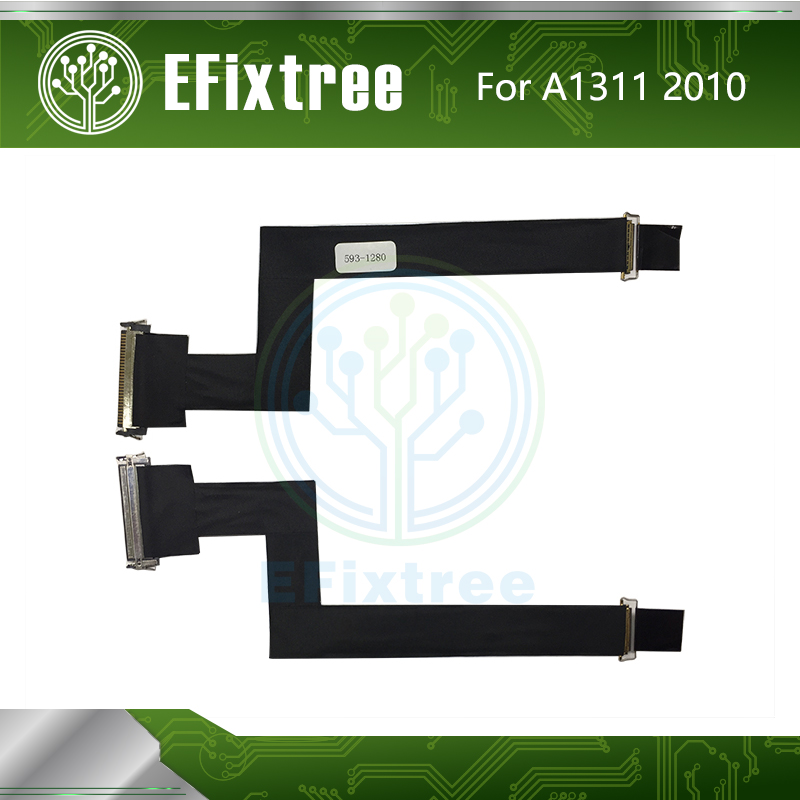 Free Shipping LCD LED LVDS Cable LCD Screen Flex Cable 593-1280 A For IMac 21.5