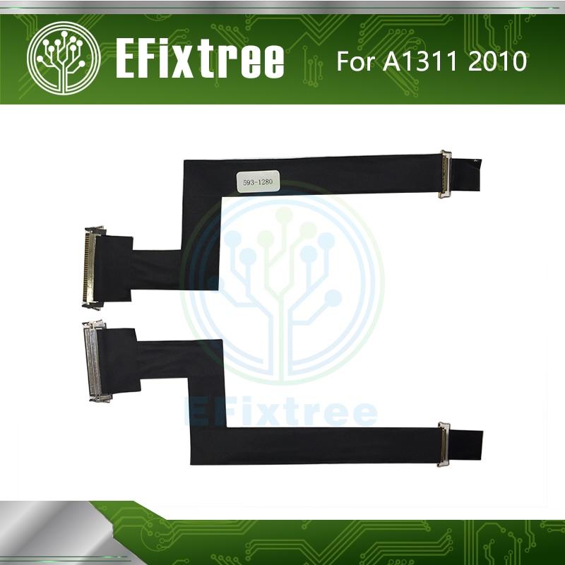 Frete Grátis LCD LED LVDS Cable Tela LCD Flex Cable 593-1280 UM Para iMac 21.5