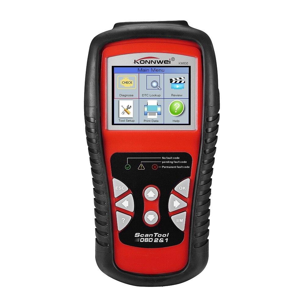 Voiture OBD2 Scanner outils de Diagnostic balayage automatique en temps réel lecteur de Code d'erreur vérifier moteur véhicule Scanner 12 V testeur de batterie