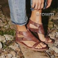 Women Sandals 2018 New Summer Gladiator Sandals Women Fashion Pu Leather Ankle Strap Sandalia Feminina Plus