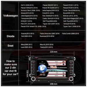 Image 4 - Junsun 7 2 喧騒車のdvdラジオプレーヤーgpsナビゲーションvwゴルフ/6/ゴルフ/5/パサート/b7/cc/b6/シート/skodaのbluetooth fmステレオプレーヤー