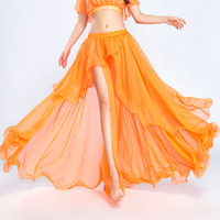 Chiffon Belly Dance Skirt Sexy High Splitting Bellydance Skirt Exotic Stage Dancing Wear Bollywood Performance Clothing DL3052