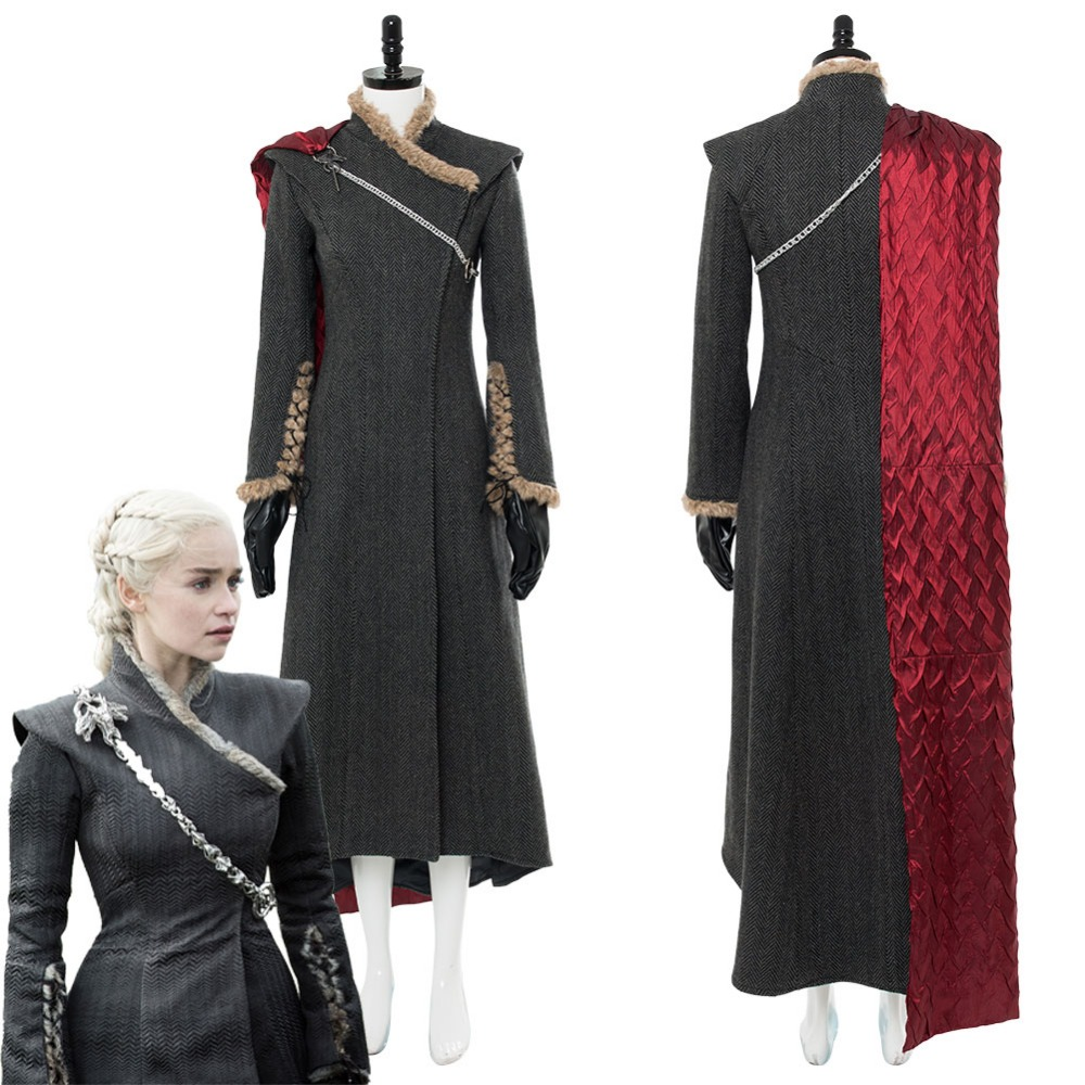 Cosplay Daenerys Targaryen Costume Dany Gown Dress Game of Thrones Season 7 Mother of Dragon Cosplay Costume Custom Made