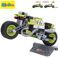 Technic Pull Back Kids Block Educational Toys For Children Boys Motorcycle Toy Car Building Blocks Compatible