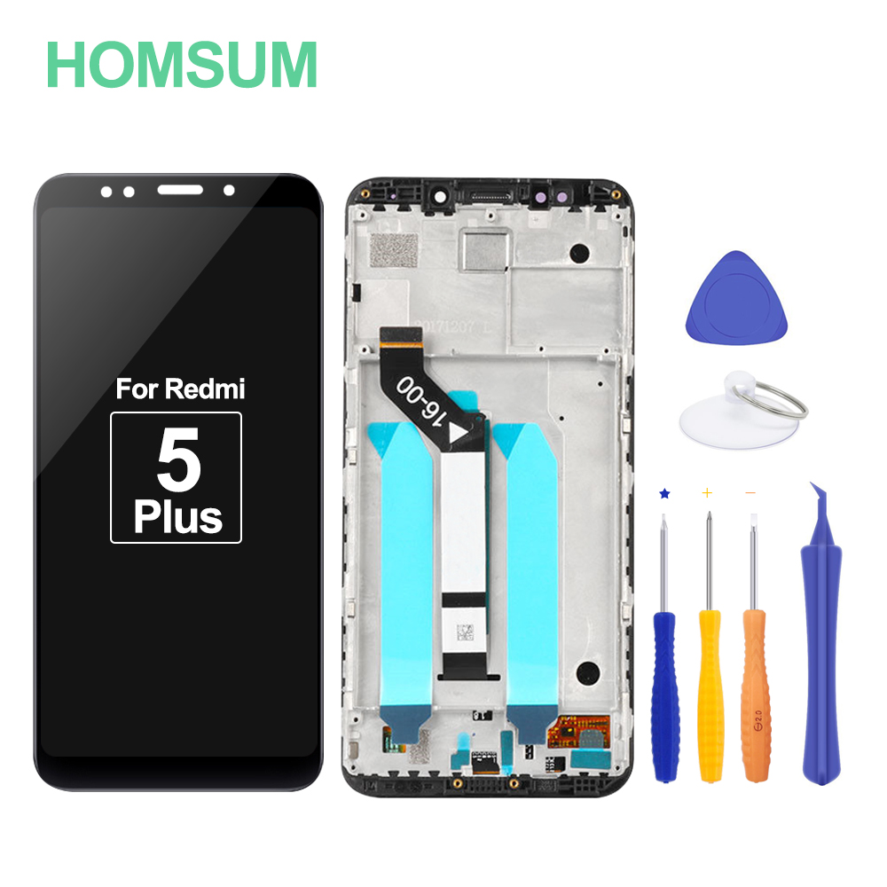 100% Original LCD For Xiaomi Redmi 5 Plus LCD Display 2160*1080 IPS With Frame+Touch Screen For Redmi 5 Plus Display LCD Screen