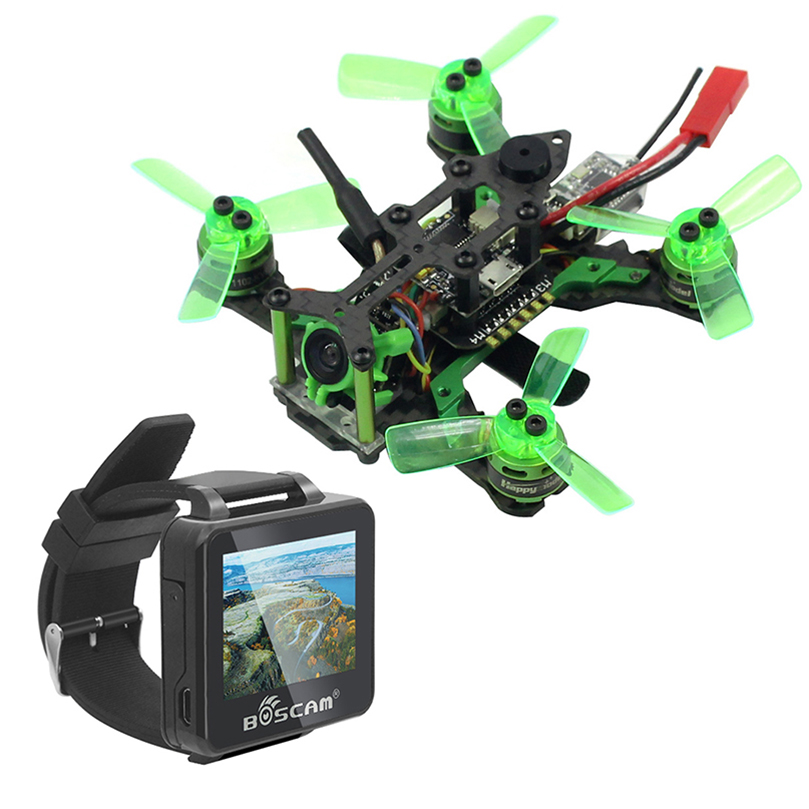 Mantis 85 Micro FPV Racing RTF Drone with Frsky / Flysky Receiver F4 Flight Controller with FPV Watch TFT Monitor BNF toys happymode mantis 85 micro fpv racing drone bnf with frsky d8 flysky 8ch support specktrum dsm x receiver accessory