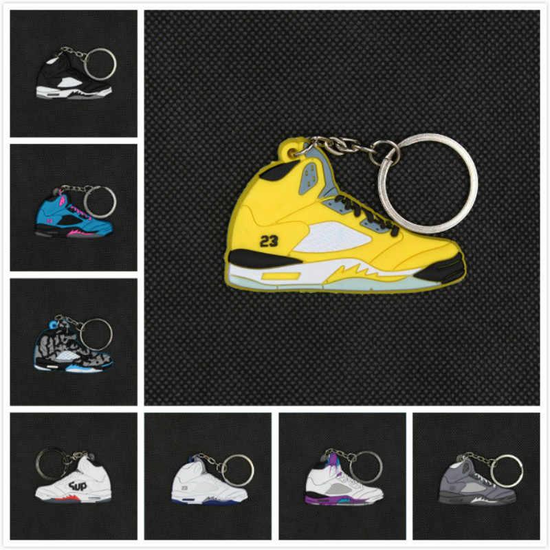 2019 NOVO Jordan Silicone Chaveiro Charme Saco Homens Mulher Kids Acessórios Titular Presentes Chave Anel Chave Da Sapatilha Sapatos Corrente Chave