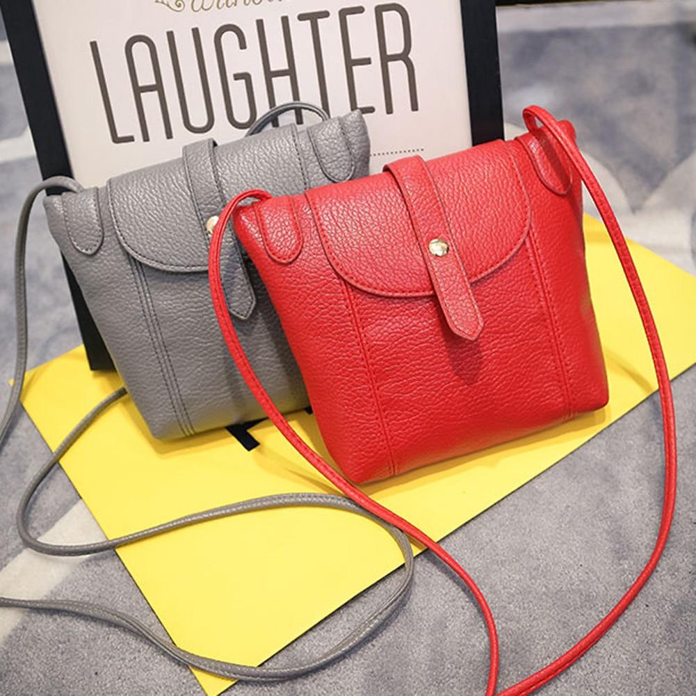 여자의 PU 가죽 핸드백 패션 여성 작은 메신저 가방 새로운 디자인 여성의 어깨 가방 캔디 컬러 레이디 핸드백 클러치